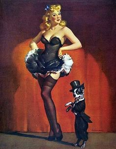 Pinup and Boston Terrier