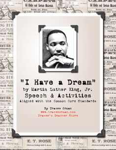 Black history month free download: Martin Luther King, Jr. Dream Speech & Activities