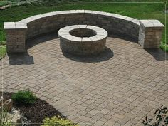Fire Pits, Outdoor Fire Rings, Outdoor Fireplace LOVE THIS LAYOUT