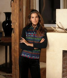 Put a festive spin on warm weather dressing with iconic sweaters from Lauren