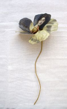 Fabric Flowers With Artwork By Puur Anders