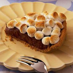 S'more Pie Recipe! #smore #recipes