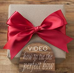 Video on how to tie the perfect bow!