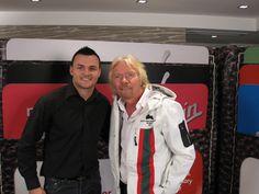 Beau Champion with Richard Branson.