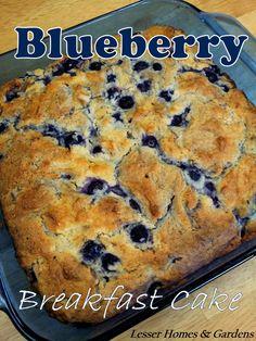blueberry breakfast cake w/ buttermilk