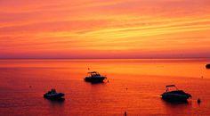 Beautiful sunset in Portinatx, Ibiza