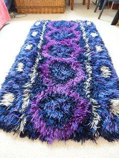 purple rya rug