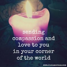 Join me in sending compassion and love to those who need it today (all over the world). Click through for a (free) guided meditation.