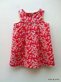 sisko by mieke: Een zomers babykleedje maat 80 mét gratis patroon