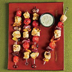 Superfast Summer Recipes | Chicken Kebabs with Creamy Pesto | CookingLight.com