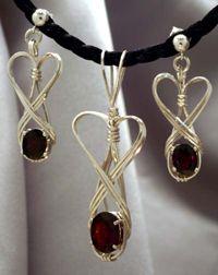 Wire jewelry angel wings.