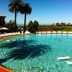 Beautiful pool at The Resort at Pelican Hill, Newport Beach, CA