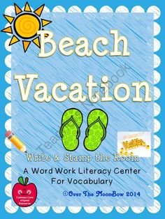 This fun, Beach Vacation themed activity pack will help your students practice reading, writing, & learn vocabulary; a perfect complement to your seasonal activities!