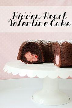 Hidden Heart Valentine Cake