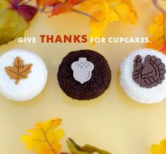 Thanksgiving Cupcakes at Crave Cupcakes #thanksgiving #thanks #givingthanks #recipes #holiday #holidayrecipes #thanksgivingdinner #diy #crafting #holidaycrafts #holidaydiy #fall #harvest #meals #family #give #thanks #happy #healthy #delicious www.gmichaelsalon.com