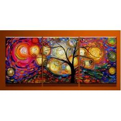 #10: Special Life - ytg0029 - Modern Abstract Oil Painting on Canvas Stretched Framed with Wooden Frame - Return shipping covered for continental US regions.