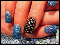 Mermaid Acrylic Nails by Dana_NailJunkie - Nail Art Gallery by Nails Magazine www.nailsmag.com