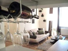 cabinets, interior design, wine racks, idea, glasses