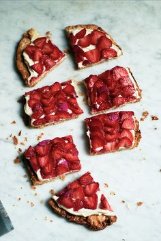 simple strawberry tart (yossy arefi) by apt2bbakingco