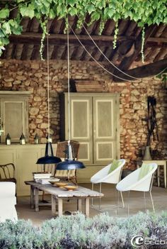 Preciosa terraza, casa rústica!