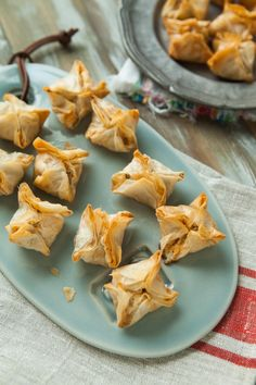 Cheddar, Blue Cheese & Bacon Stuffed Mushroom Phyllo Appetizers