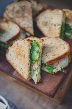 heirloom tomato sandwiches, photo by Next to Me Studios http://ruffledblog.com/san-diego-loft-wedding #food #tomato #reception