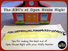 Open House Tips for Parents from The Educators' Spin On It
