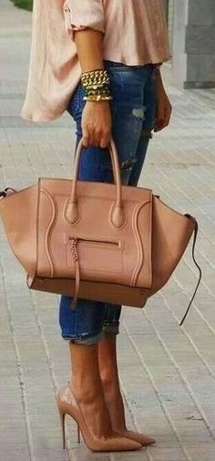 Celine tote and Louboutins