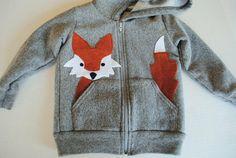 DIY fox in the pocket hoodie, idea by elisehooperdesigns at Etsy