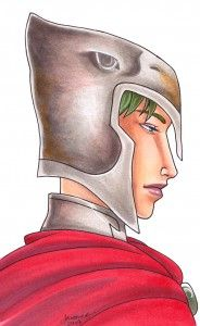 Copic Metal tutorial iron helmet by Jayleen Weaver