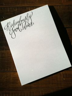 ridiculously good ideas notepad