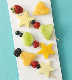 brochetes de frutas