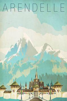 Vintage Disney Frozen posters!!