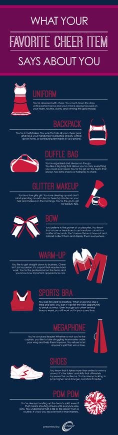 What Does Your Favorite Cheer Item Say About You? (INFOGRAPH) #cheerleading
