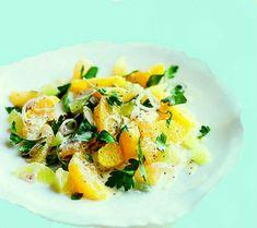 Uma mordida perfeita: Salada Citrus com semente de papoila Vestir