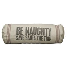 holiday, idea, naughti, decorative pillows, save santa, decor pillow, bolster pillow, zulili today, christma