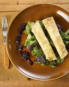 Herb Crepes with Wild Mushrooms Recipe