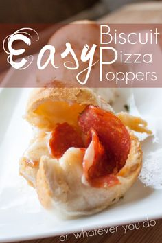 Biscuit Pizza Poppers from OrWhateverYouDo.com