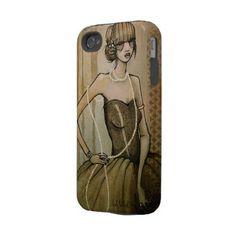 vintage pearl iphone 4 case