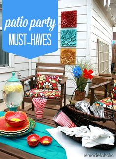 Patio Party Must-Hav
