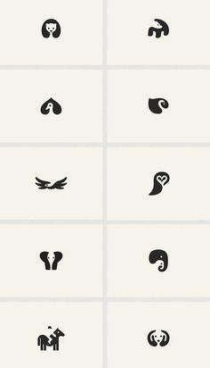 Adorable Negative Space Animal Logos