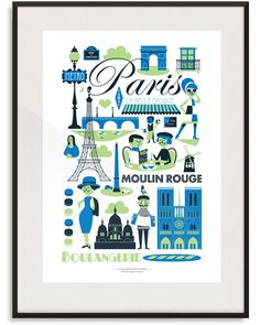 Paris Print By Ingela P Arrhenius | Lagom Design