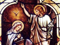 cathol awesom, cathol iconographi, saint gabriel, cathol saint