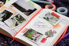 travel journals, travel scrapbook, scrapbook diy, washi tape