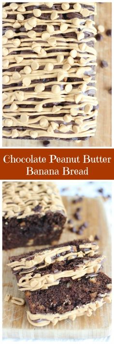 Dense and moist banana bread loaded with peanut butter and chocolate, it???s totally crave-worthy!
