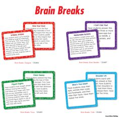 Challenge their brain with these assorted, fresh and fun Brain Breaks: Brain Benders Curriculum Cut-Outs! Students will love the challenge and intrigue of these engaging brain benders! Brain Breaks Curriculum Cut-Outs are perfect for transition times, refocusing students, as activities to start or end the day, to incorporate short breaks or physical movement throughout the day. Each pack includes 36 brain breaks. Comes in: Brain benders, Focus, Energize and Calm.