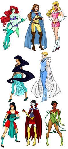 Disney princesses as superheroes!