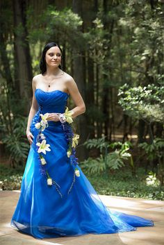 Blue wedding dress!