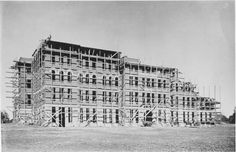 Clark Hall construction in fall-winter 1888.