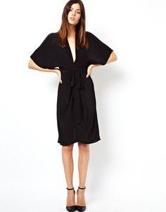 ASOS   ASOS Midi Dress With Obi Belt at ASOS